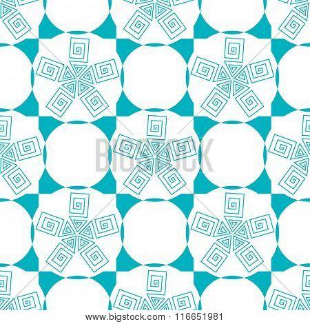 Blue Geometric Stylized Circle Pattern.