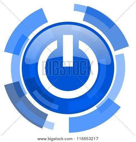 power blue glossy circle modern web icon