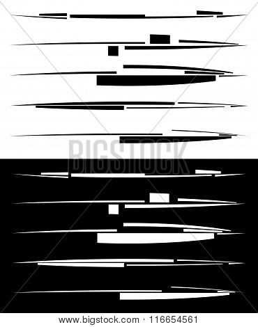 Set Of Abstract Hitech, Digital Lines, Dividers