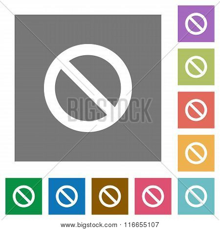 Blocked Square Flat Icons