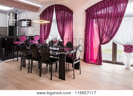 Dining Table In Luxury Interior
