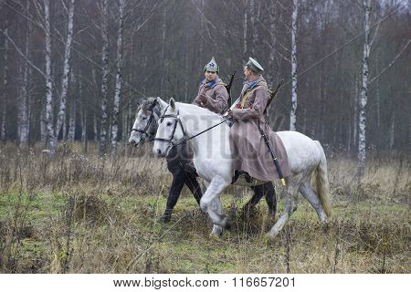 Two Red Army soldier in the woods