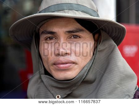 Portrait of Asian traditional farmer