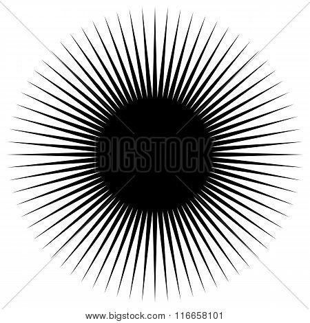 Silhouette Of A Simple Spiky, Radiating Shape