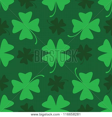 Seamles Vector Shamrock Background For St.patrick Day