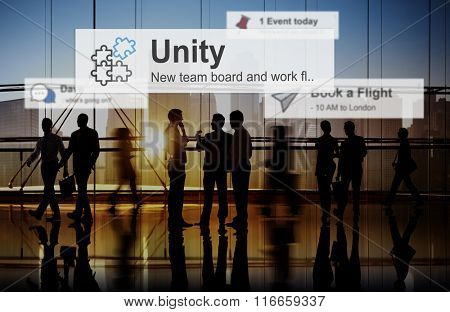 Unity Teamwork Togetherness Partnership Cooperation Concept