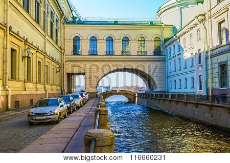 The Arch Over The Winter Canal