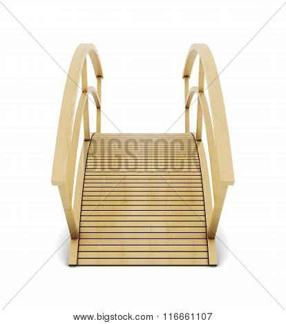 Decorative bridge isolated on a white background. 3d rendering