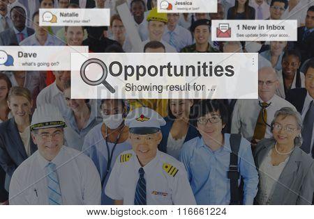 Opportunities Skill Achievement Development Concept