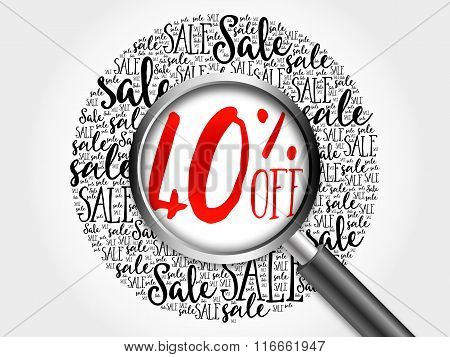40% Off Sale Word Cloud