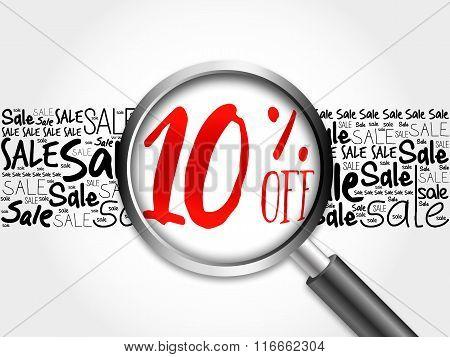 10% Off Word Cloud