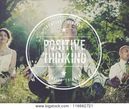 Positive Thinking Optimism Attitude Choice Inspire Concept