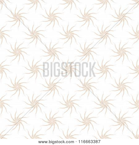 Vector seamless pattern of stylized pink plants on a white background