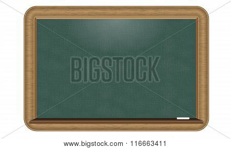 Illustrated Vector green chalkboard with nice realistic wood border.
