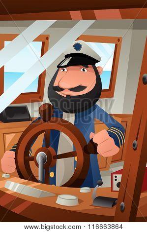 Boat Captain On Duty