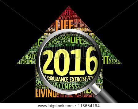 2016 Goals Health Word Cloud