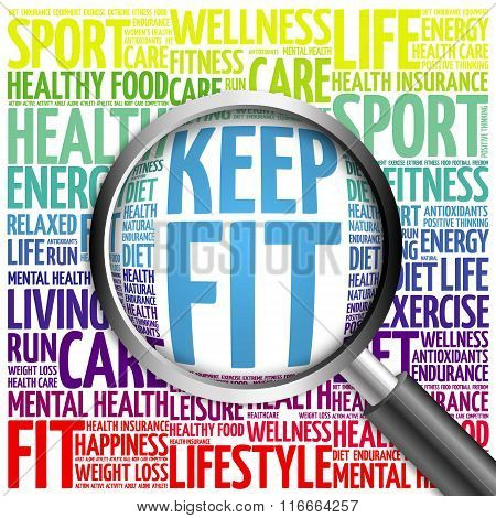 Keep Fit Word Cloud