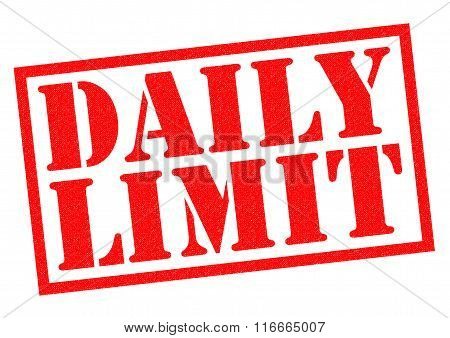 DAILY LIMIT red Rubber Stamp over a white background.