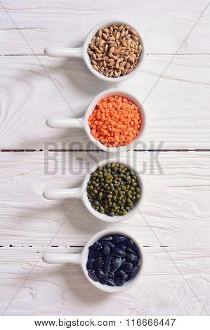 Cereals In Ceramic Bowls