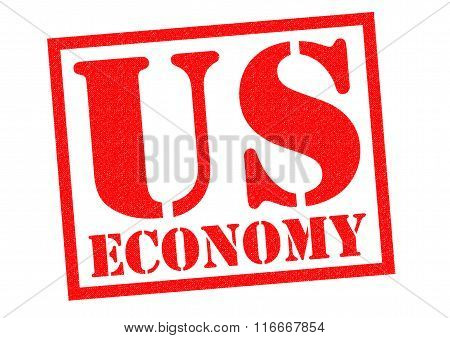 US ECONOMY red Rubber Stamp over a white background.