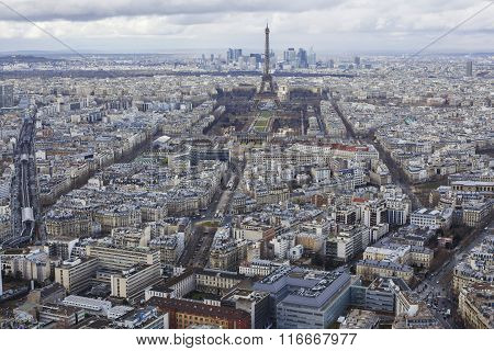 Paris Aerial View.