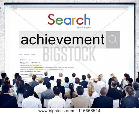 Search Achievement Word Seminar Meeting Concept