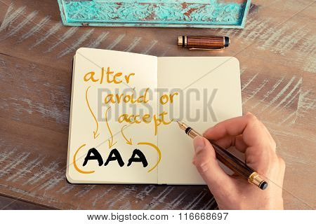 Business Acronym Aaa Alter, Avoid, Or Accept