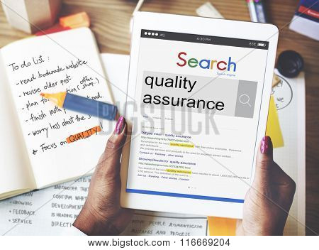 Quality Assurance Development Satisfaction Customer Concept