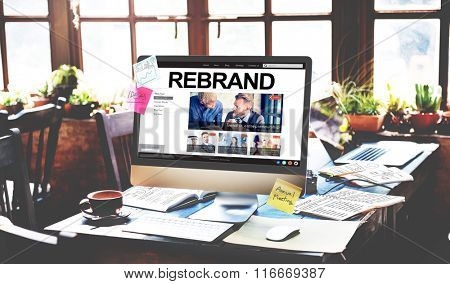 Re-brand Strategy Marketing Image Corporate Brand Concept