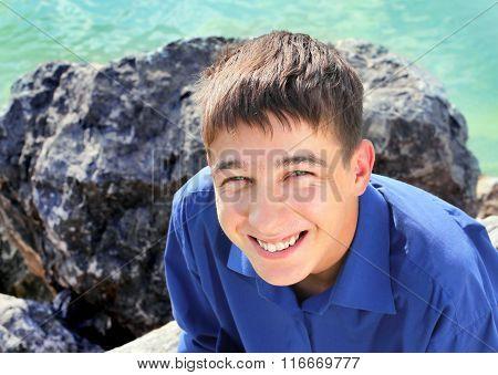 Cheerful Teenager Portrait