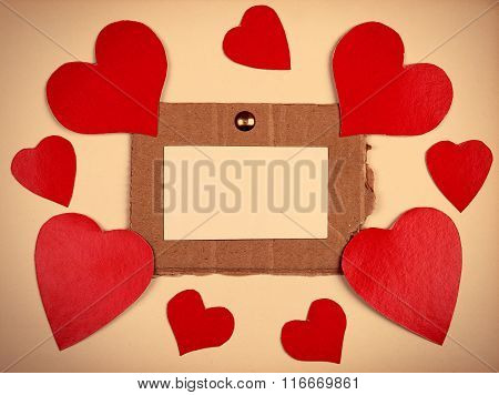 Notice Board With Heart Shapes