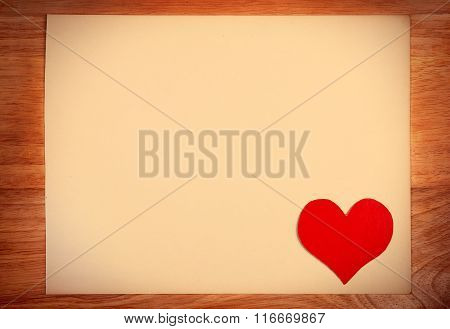 Notice Board With Heart Shape
