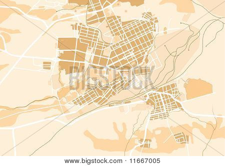 Vector Map of The City