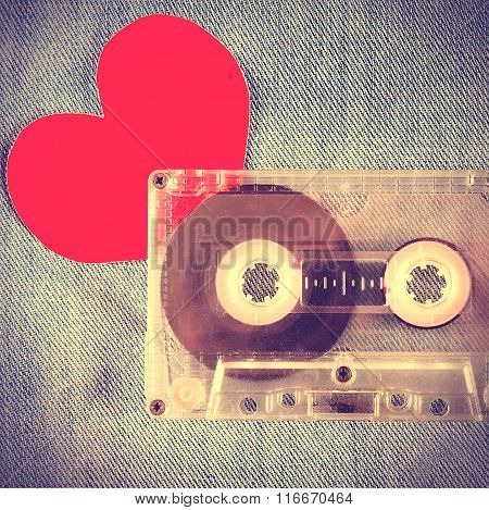 Cassette With Heart Shape