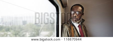 Train Transportation Corporate Urban Window Concept