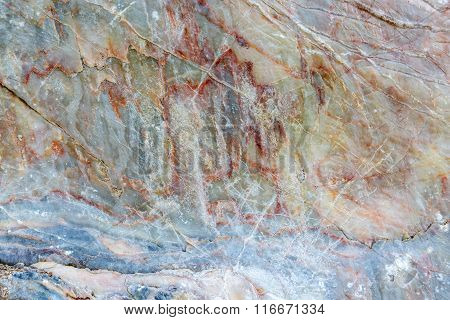 Libe Curve On Marble Stone Texture Background