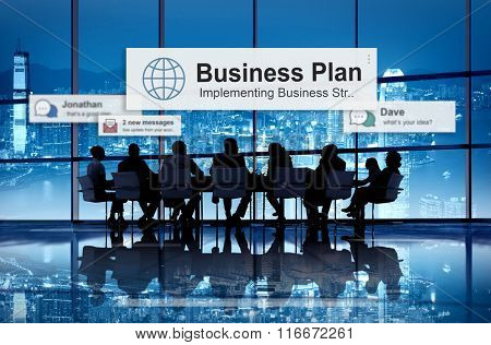 Business Plan Strategy Vision Tactics Direction Concept