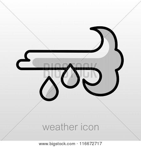 Wind Rain Icon. Meteorology. Weather