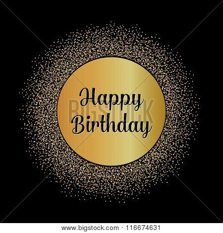 Abstract Creative concept vector design layout with text - happy birthday. For web and mobile icon i