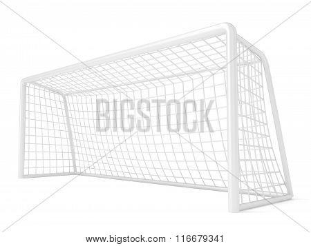 Football - soccer gate. 3D