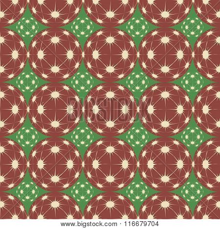 Festive Seamless Pattern In Red And Green Colors.