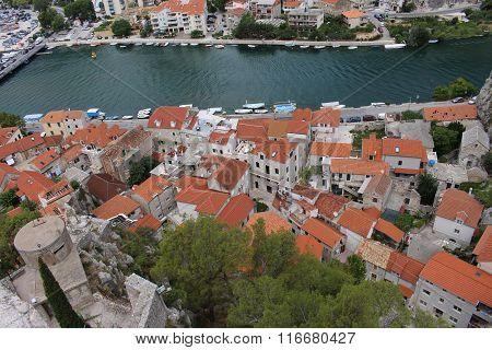 river Croatia Omis summer