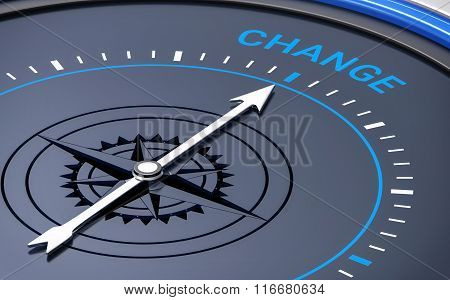 3D Compass. Change Word