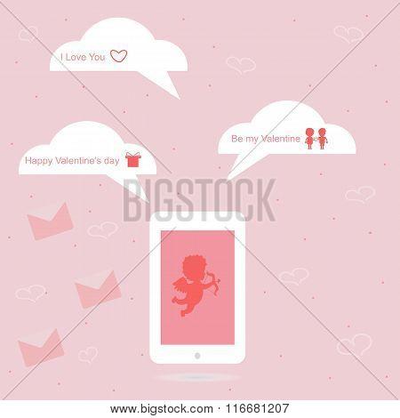 Valentine's Day message phone
