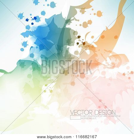 watercolor effect abstract background design