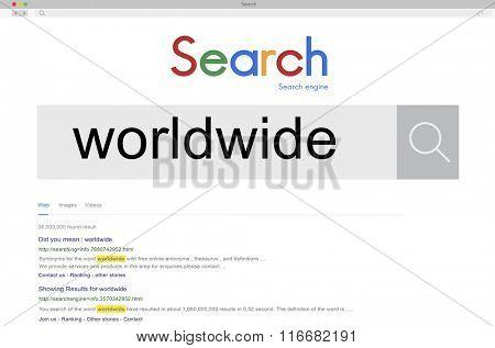 Wolrdwide Globalization Global International Concept