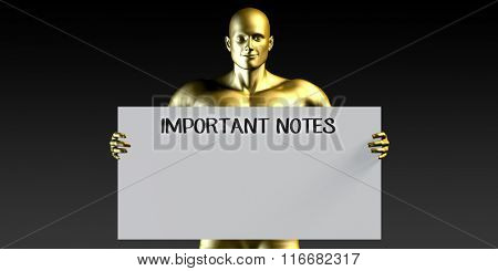 Important Notes with a Man Holding Placard Poster Template