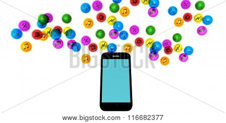 Smartphone Services with a Hand Holding Mobile Phone