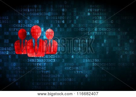 Business concept: Business People on digital background