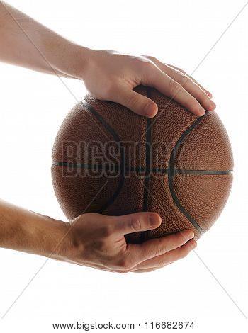 Basketball Ball In Hands